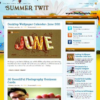 Summer Twit blogger template.