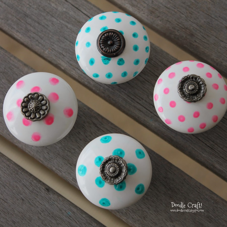 Hand Painted Dresser Knobs