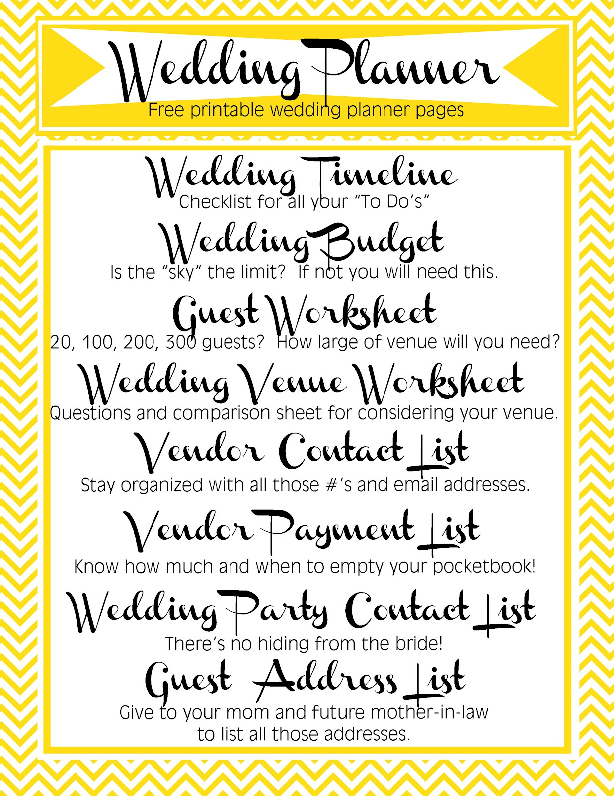 Free printable wedding reception templates gloss celebrate celebrate celebrate gt printable wedding planner pages solutioingenieria Image collections