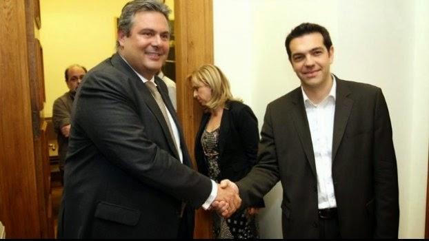 «Άνοιγμα» ΣΥΡΙΖΑ σε Καμμένο για κυβέρνηση σωτηρίας
