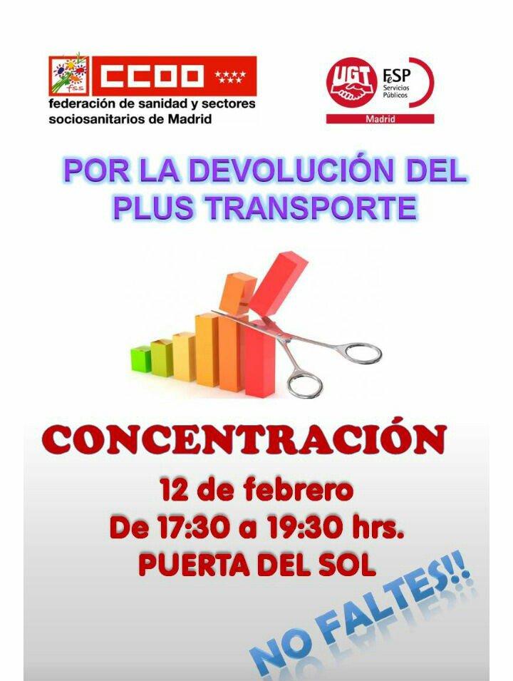 lunes 12 de Febrero Concentración