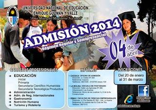 Ingresantes examen UNE 2014-1 Universidad La Cantuta Enrique Guzmán y Valle, sabado 5 de Abril