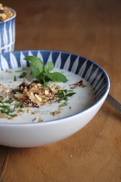 kalte Joghurt-Gurken-Suppe