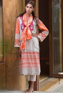 Lala Vintage Kurti Stole Winter Collection 2015