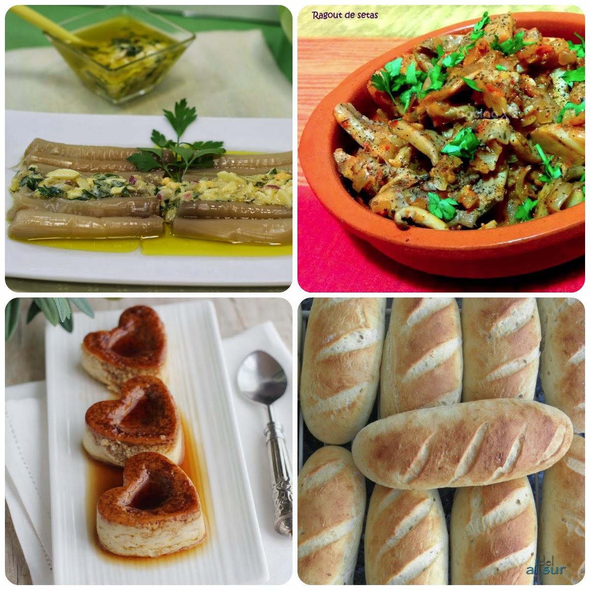 Recetas del Sexto Menú vegetariano con recetas de otros blogs.