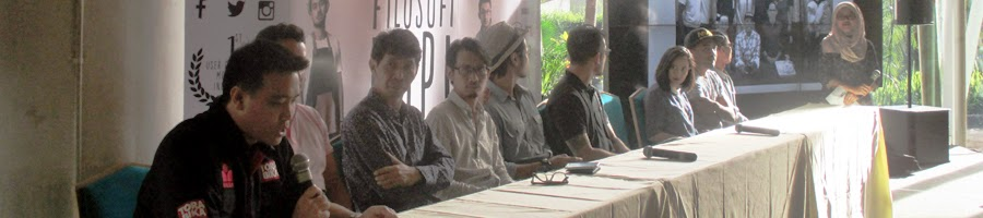 Noegroho Moeshartanto selaku Marketing Manager Torabika di Press Conference film Filosofi Kopi The Movie