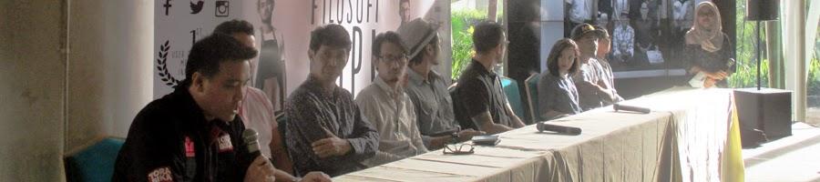 Noegroho Moeshartanto selaku Marketing Manager Torabika di Press Conference film Filosofi Kopi The Movie