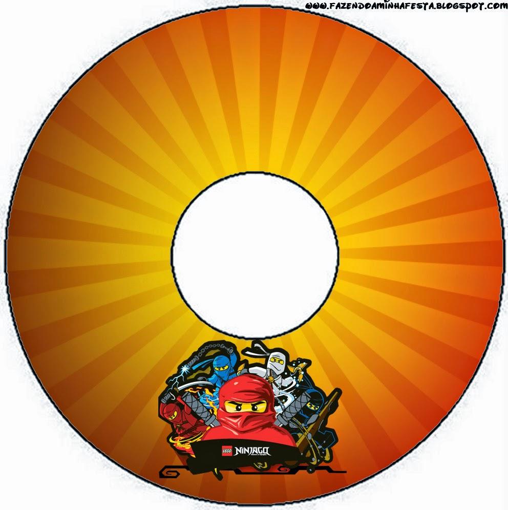 Etiquetas de Ninjago para CD's.