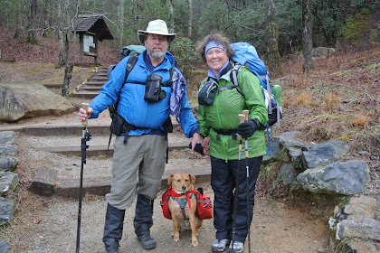 Old Couple Hiking