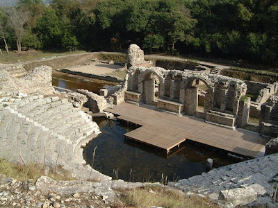 Hellenistic theatre, Butrint. Albania [Credit: Wiki Commons]