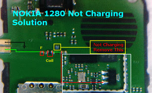 nokia 1280 not charging problem solution