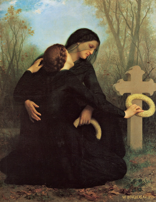 William Adolphe Bouguereau (1825-1905) - The Day of the Dead (1859)