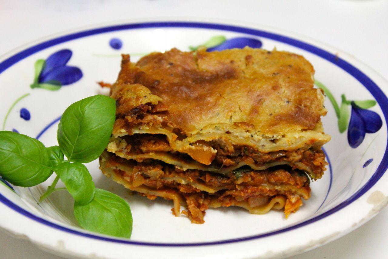 Green Gourmet Giraffe: Vegan tempeh and pumpkin lasagna