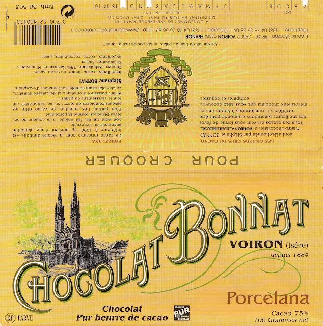 tablette de chocolat noir dégustation bonnat noir porcelana