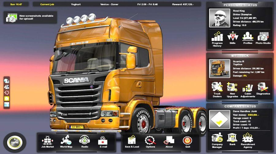 download euro truck simulator 2 scandinavia pc wine. Black Bedroom Furniture Sets. Home Design Ideas