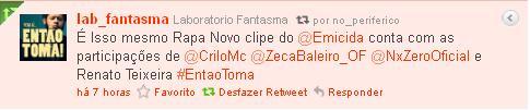 Acessoria de Imprensa do @Emicida Divulga Participações Novas no Clipe #EntaoToma