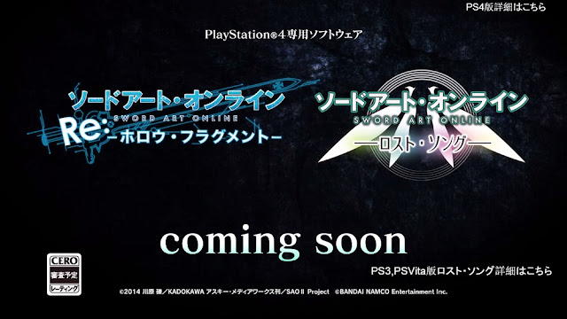 Sword Art Online Hollow Fragment Sword Art Online Lost Song PS4