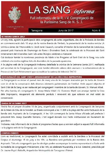 La Sang Informa - Juny 2017