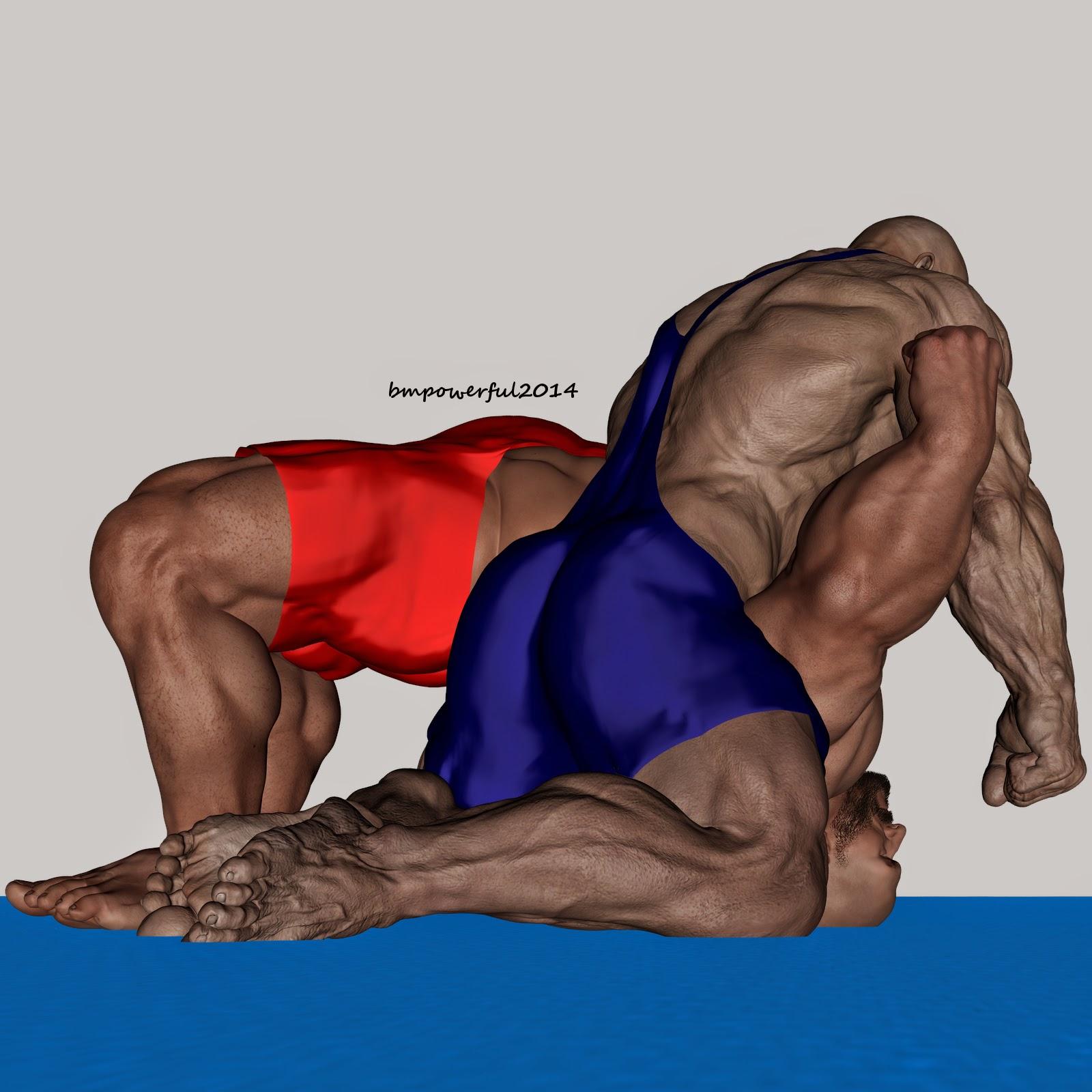 wrestling erotic muscle