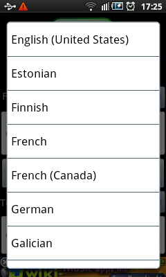 Android  Voice Translator Languages