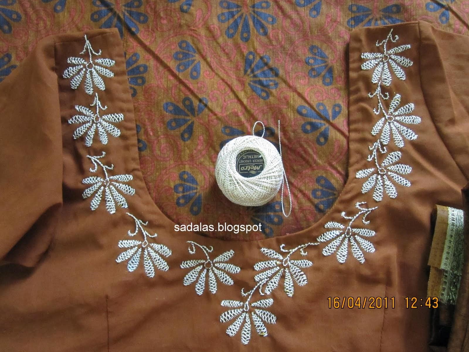 Sadalas Embroidery Herringbone Stitch Saree Blouse