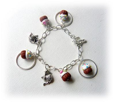 Cupcakes & Tea Charm Bracelet