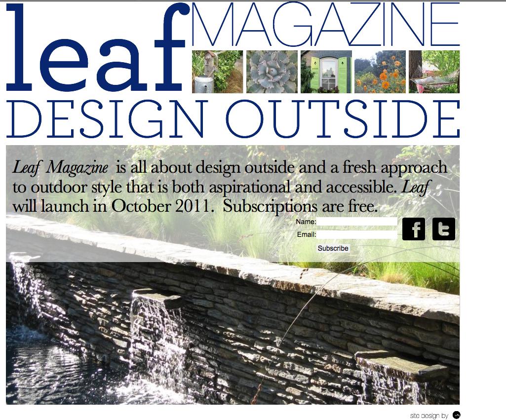 Paradis express leafmag for Jardin design magazine