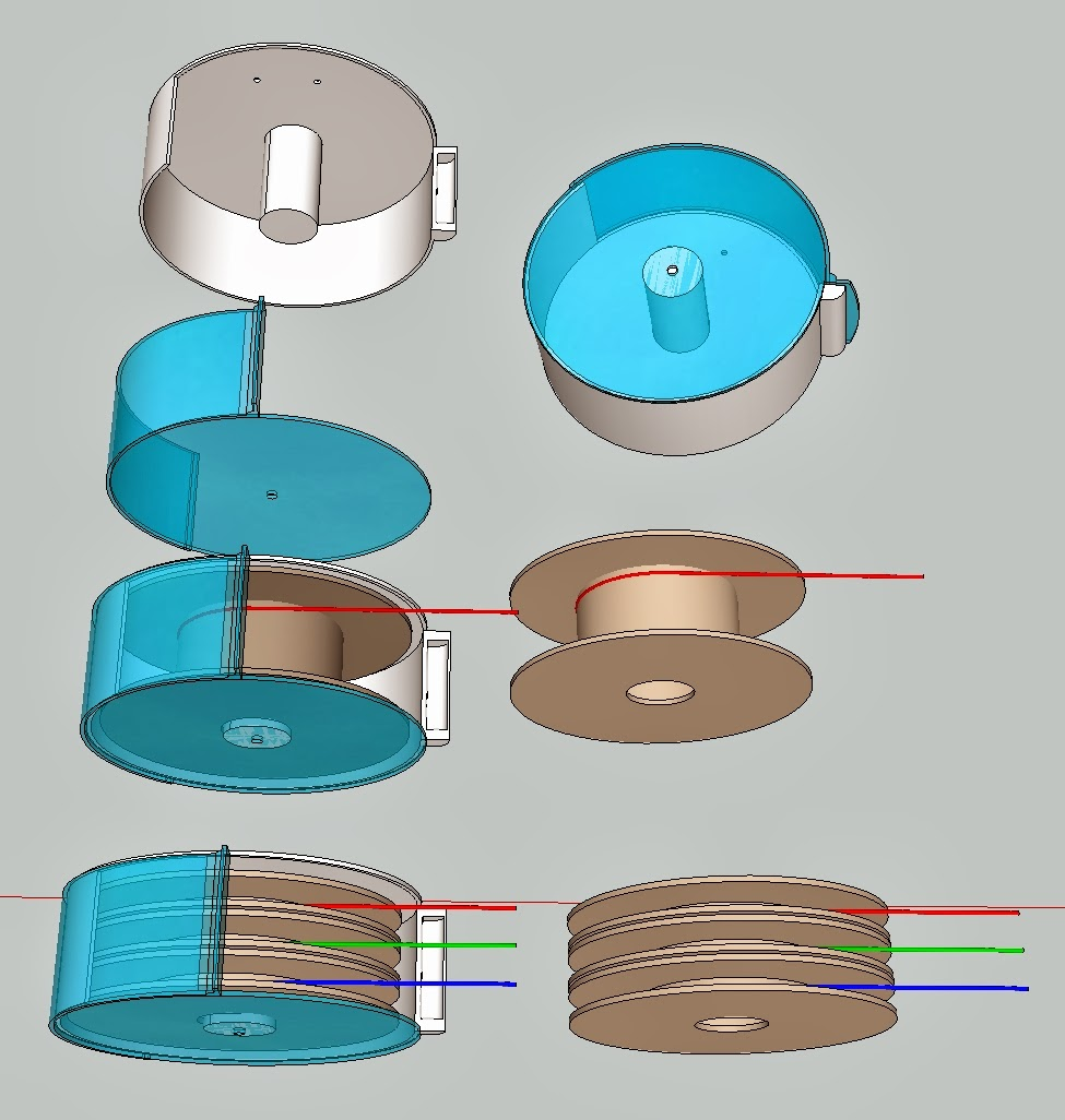 Reprap Development And Further Adventures In Diy 3d Printing Controlling A 3w Rgb Led With An Arduino Jason Webb Diameter Of 220mm For The Outer Will Allow Typical Quantity Filament Depending On Width Spool 75mm Shown Here