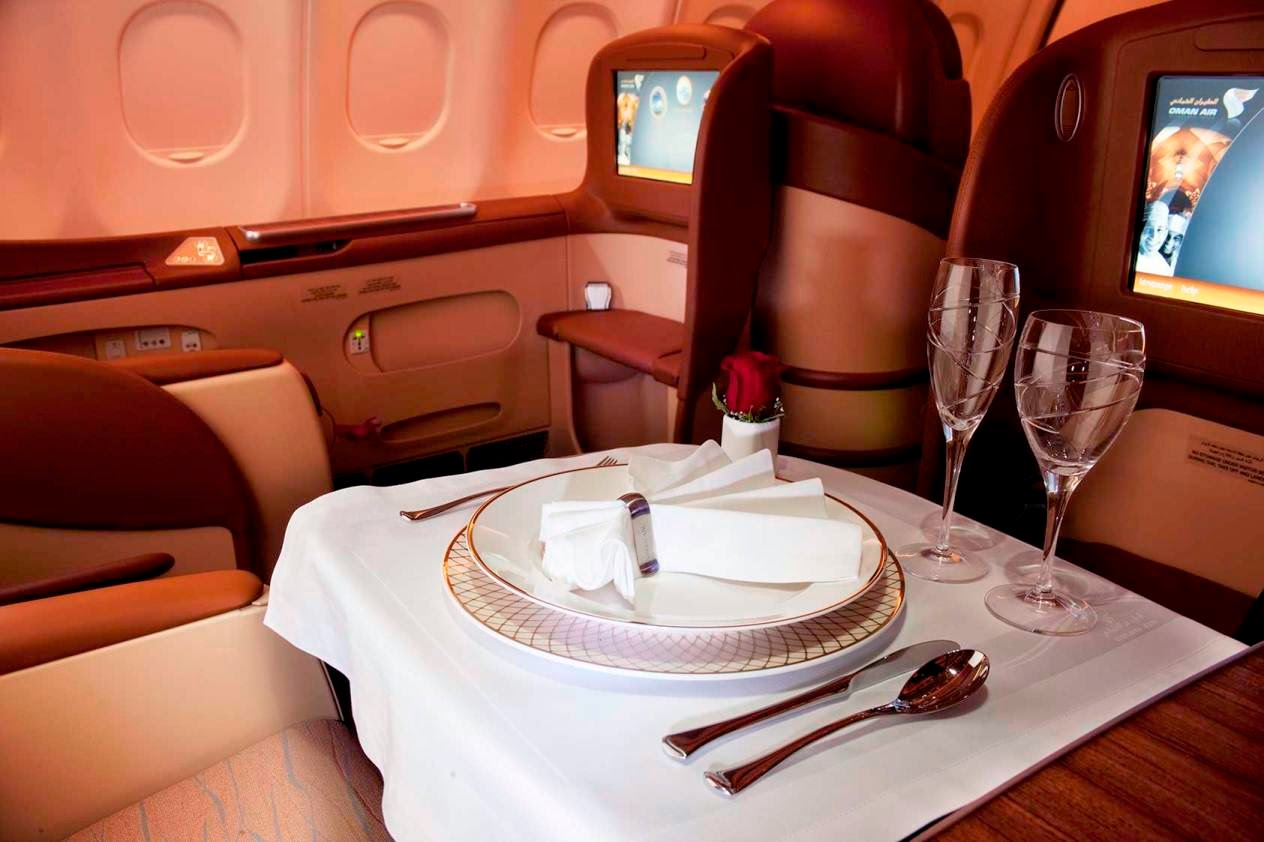 Oman Air's Business Class inflight dining
