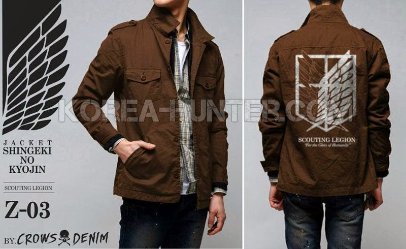 KOREA-HUNTER.com jual murah Jaket Anime Shingeki no Kyojin - Scouting Legion | kaos crows zero tfoa | kemeja national geographic | tas denim korean style blazer