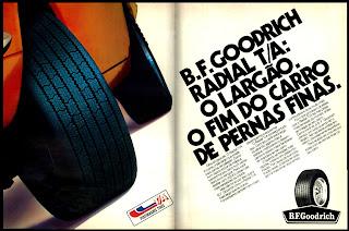 propaganda Pneus B. F. Goodrich - 1977. reclame de carros anos 70. brazilian advertising cars in the 70. os anos 70. história da década de 70; Brazil in the 70s; propaganda carros anos 70; Oswaldo Hernandez;