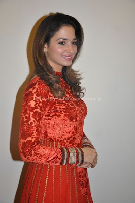 Tamanna cute  in red salwar