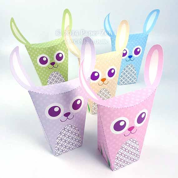 Paper zen printable easter bunny rabbit party favor treat box printable easter bunny rabbit party favor treat box negle Choice Image