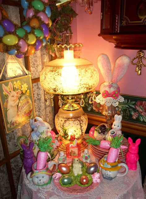 Easter Tea Table in the Dining Room, 2016