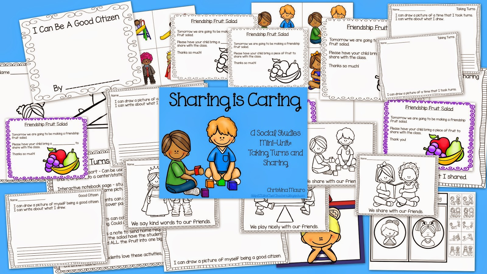 http://www.teacherspayteachers.com/Product/Sharing-is-Caring-A-Social-Studies-Mini-Unit-on-Taking-Turns-and-Sharing-1410495
