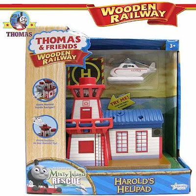 Learning Curve Harold toy Thomas the train Wooden Railway set Search and helicopter Rescue Station