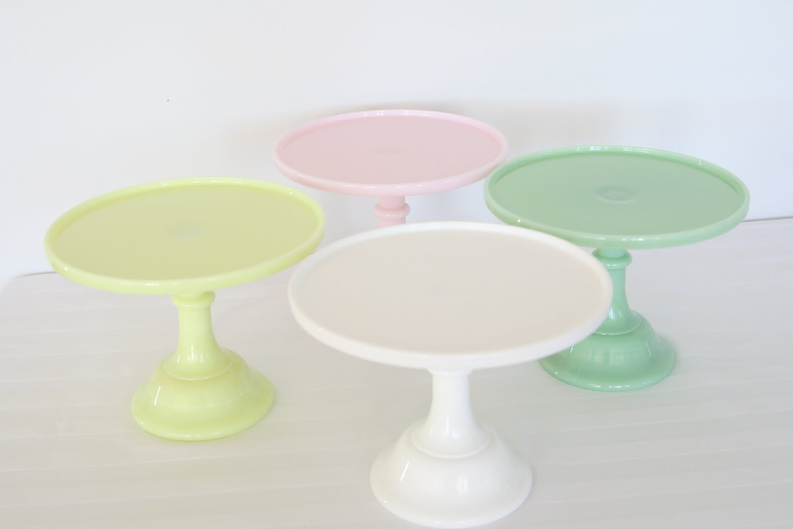 new cake stands in the store