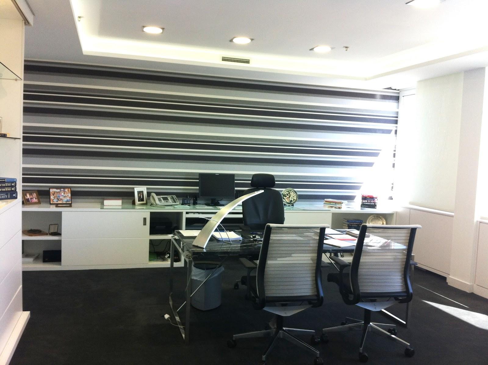 Reforma integral oficina del director general de johnson - Arquitectura de interiores madrid ...