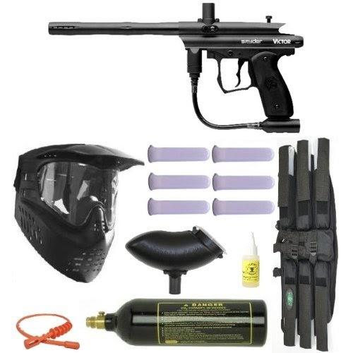 spyder victor 09 paintball gun marker mega set paintball warrior. Black Bedroom Furniture Sets. Home Design Ideas