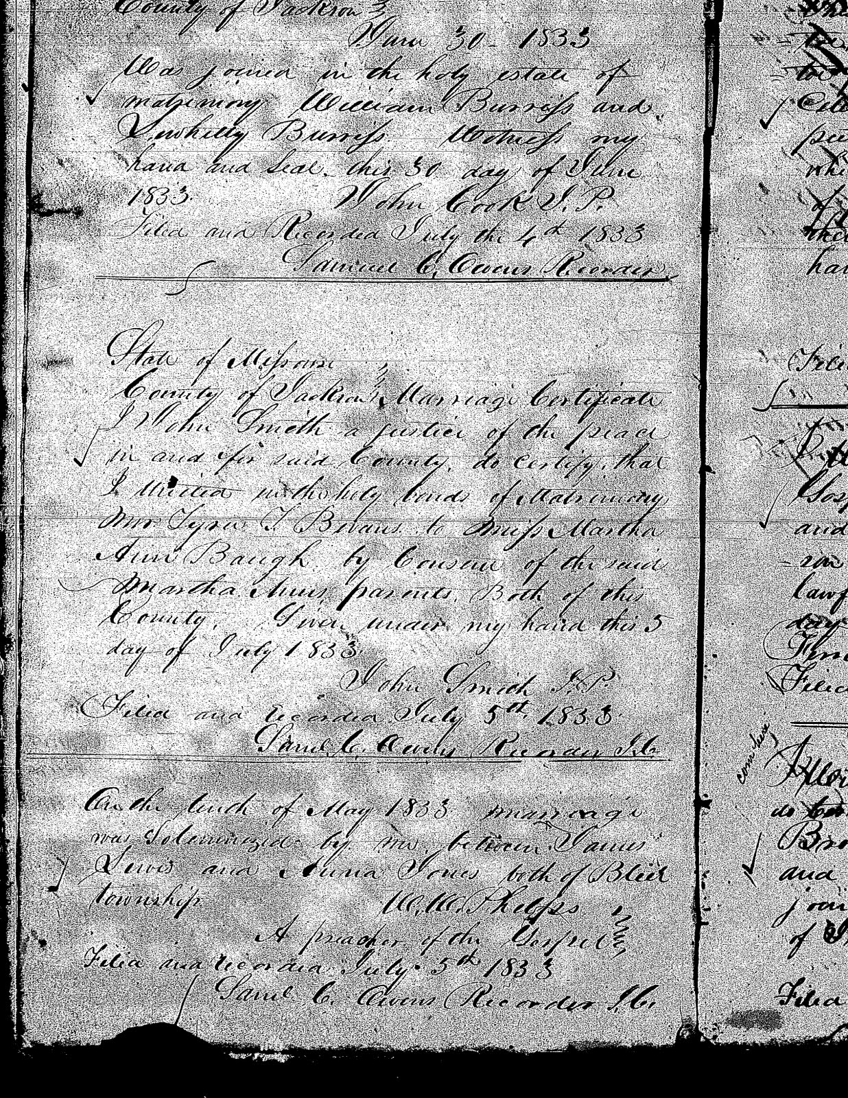 Marriage of James Lewis and Anna Jones