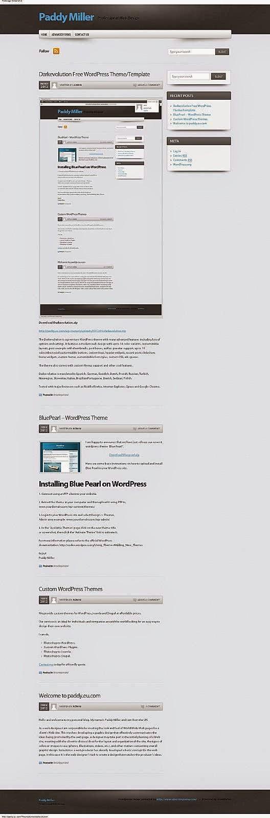 Darkevolution - Free Wordpress Theme
