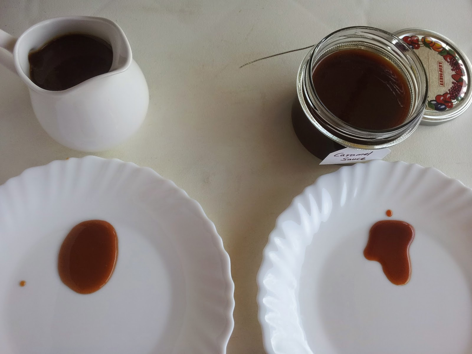 caramel sauce - colour comparison