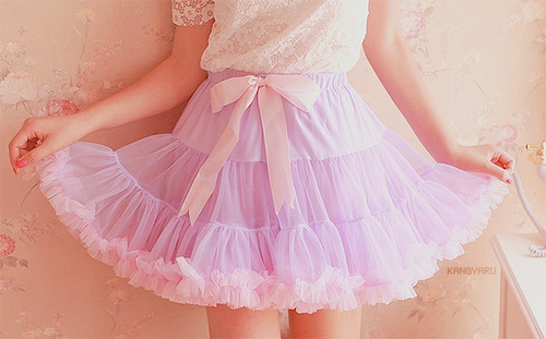 Pink and Purple Tulle Skirt