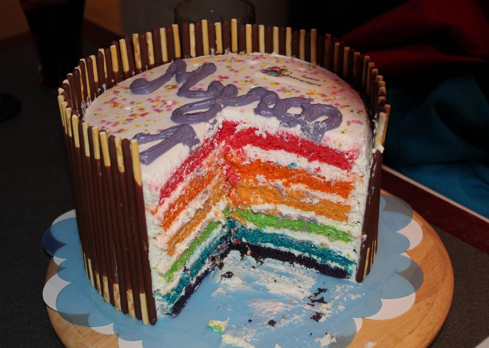 jessy 39 s kitchen g teau arc en ciel rainbow cake. Black Bedroom Furniture Sets. Home Design Ideas