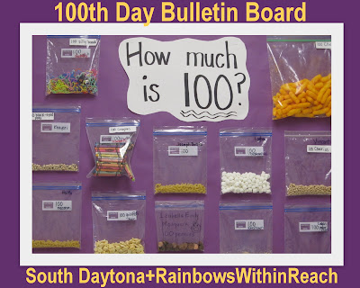 photo of: Hundred Day Party Bulletin Board: 100 items from home