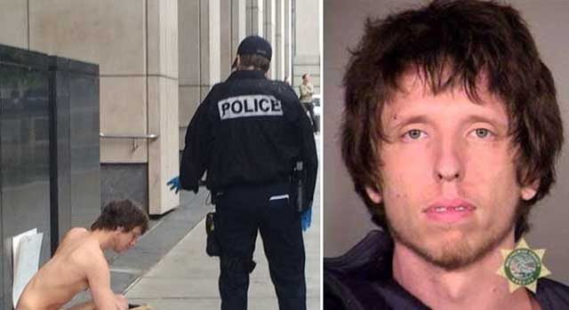 Naked man playing violin arrested at courthouse