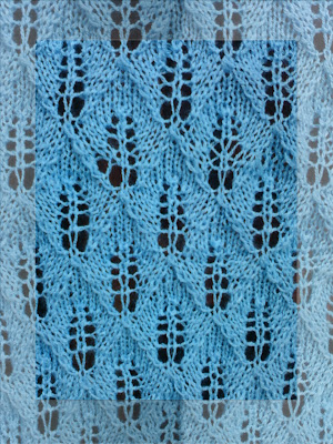 Learn to Knit the Fish Scale Lace Knitting Stitch