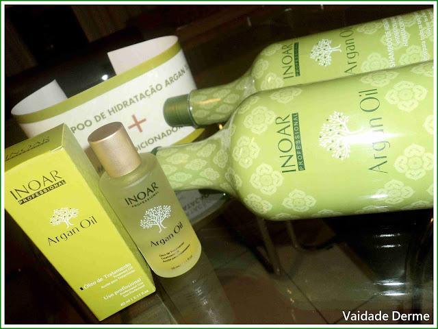 Shampoo, Condicionador e Óleo Inoar Argan Oil System Profissional