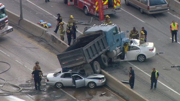 Vehicle Accident News Stories Articles Dump Truck Jumps