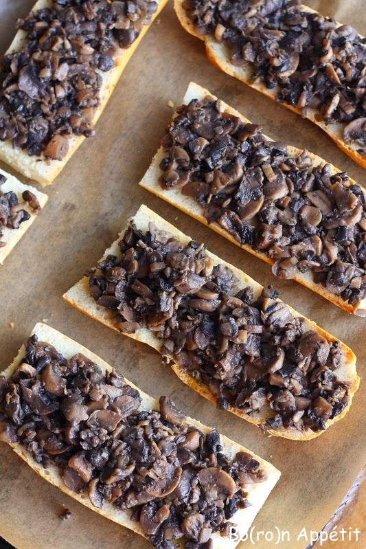 Zapiekanki z pieczarkami i serem - przepis